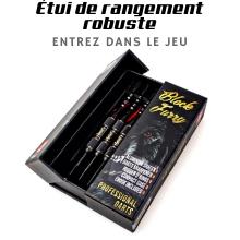 Aluminium Sac Noir Pack de 12 Vols de fl/échettes avec 36 Professionnels Les fl/échettes NEWROAD Steel Darts Laiton Caoutchouc Mobiles barils Contre Joints toriques