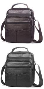 SPAHER IPAD Leather Men Shoulder Bag