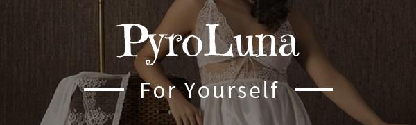 pyroluna Women Lingerie Satin Lace Chemise Nightgown Sexy Full Slips Sleepwear