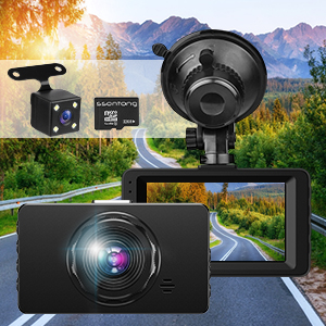 dash cams front and rear with night vision