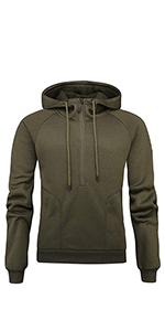 Men's Long Sleeve Sweatshirt Half-Zip Pullover Hoodie