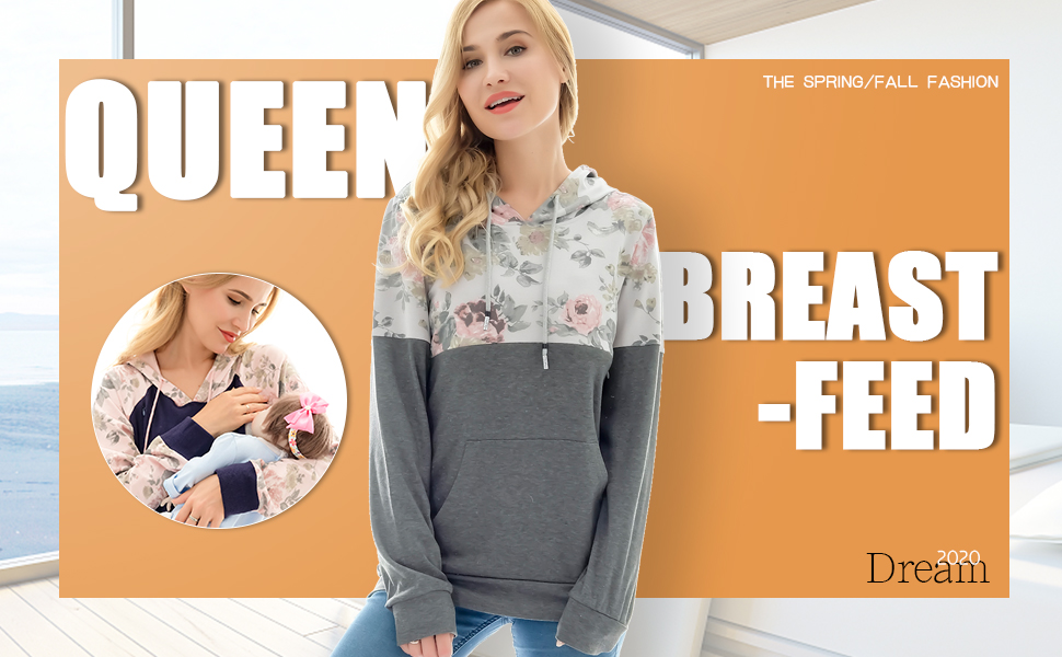 Breastfeeding Sweater Hoodie 01