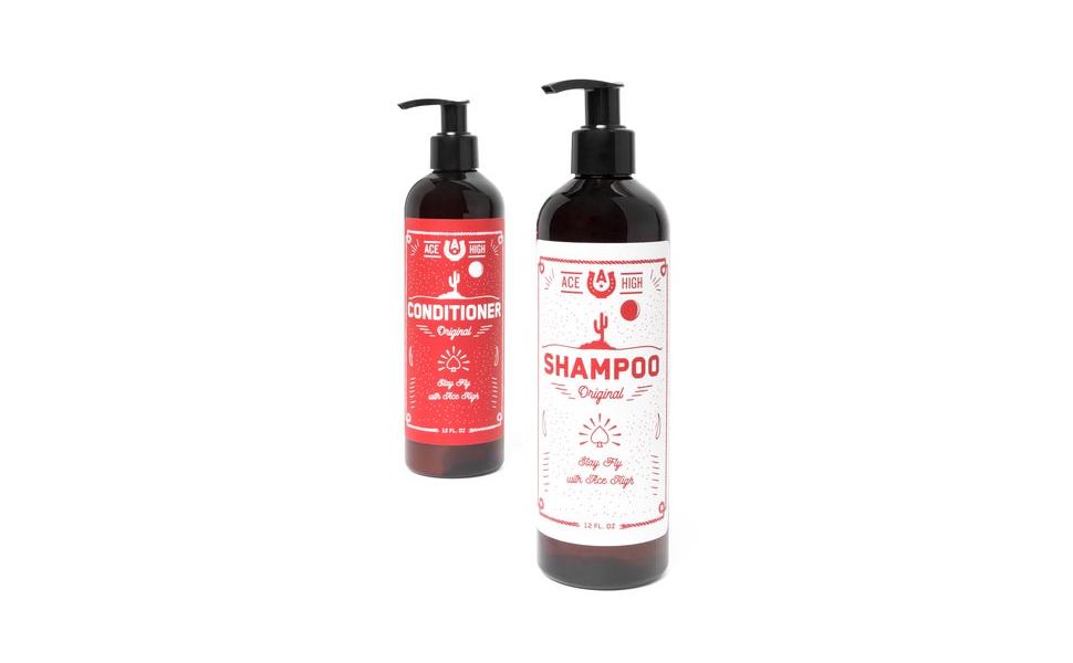 Ace High Men's Shampoo Conditioner Sulfate Free Natural Ingredients