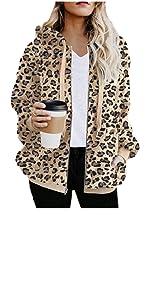 leopard print coat fux