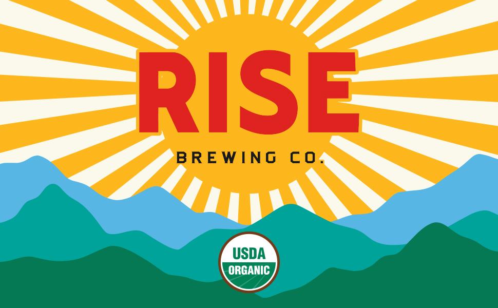 RISE Brewing Co Organic Gluten Free Dairy Free Nitro Cold Brew Coffee Tea Lattes