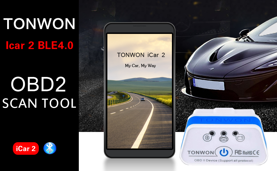Tonwon Obd2 Car Code Reader Scan Tool Obd Scanner For Ios Android Device Auto