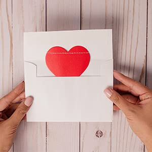 Letter with paper heart enclosed