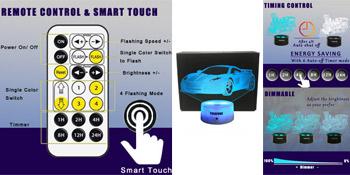 3d car night light toys gifts for boys men girls bedroom decor 3d soccer ball nursery night light
