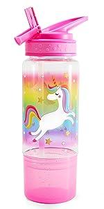 flip straw sip water bottle