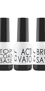 Dip Powder, Dipping Powder, Liquid, Top Coat, Base Coat, Activator