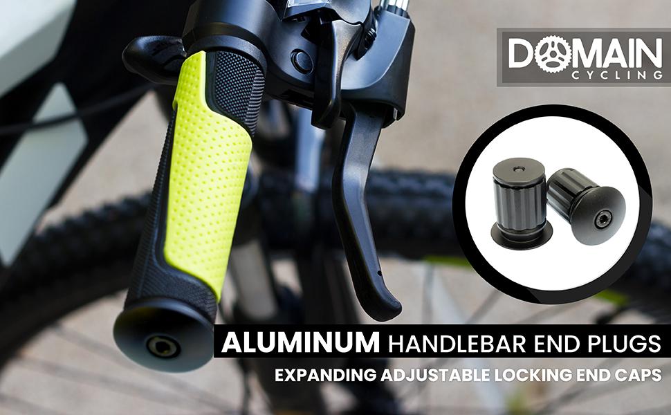 2pcs cycle road bike handlebar end lock-on plugs bar grips caps covers LS
