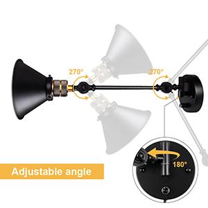 swing arm wall lamp with adjustable angle