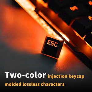 Two-color injection keycaps