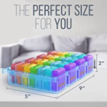 monthly pill organizer perfect size