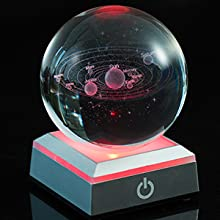 the 3D solar system crystal Ball mobile toys education space planet ball