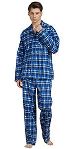 Amaxer Mens Warm Flannel Loungewear 2-piece