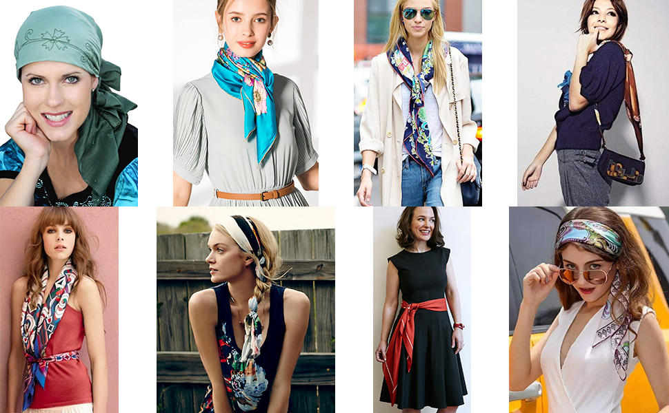 ways of how to wear the square scarf