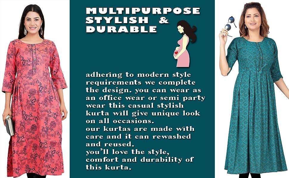 CEE 18 feeding maternity nursing wear kurti with zip, tunic top and bra