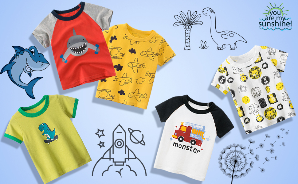 DEEKEY T-SHIRTS with bright colors and fun prints, lets your kid's spirit shine through.