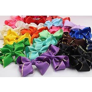 grosgrain ribbon hair bows