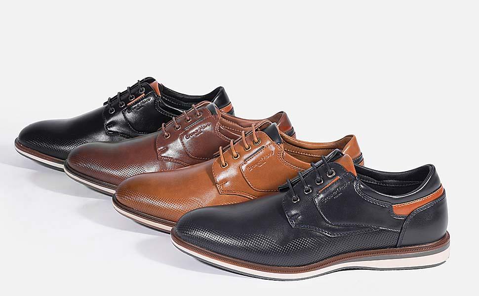 Bruno Marc LG19008M Zapatos de Cordones Vestir Oxfords para Hombre