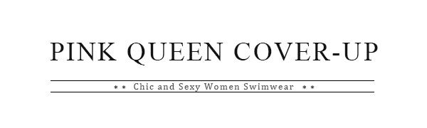 pink queen women cover ups