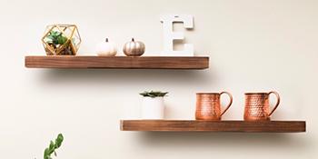 floating shelves wood shelf rustic farmhouse easy DIY installation real fir NO MDF durable sturdy