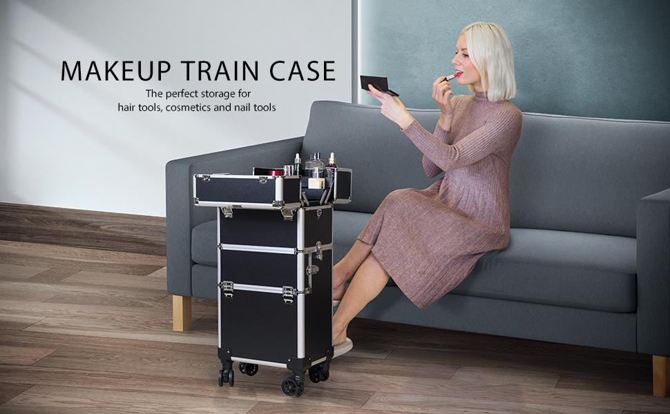 makeup train case 3 in 1