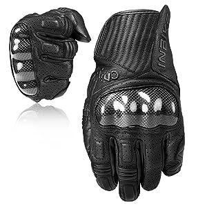 Inbike Motorrad Handschuhe Atmungsaktiv Touchscreen Motorcross Handschuhe Aus Ziegenleder Mit Kohlefaser Schutzhülle Im19820 Sport Freizeit