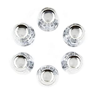 Chrome, 20 Lug M12x1.25 Wheel Accessories Parts Lug Nut Kit 1.38 Long Closed End Bulge Acorn Spline Lug Nuts Small Diameter with Key