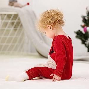 Red Reindeer Jumpsuit
