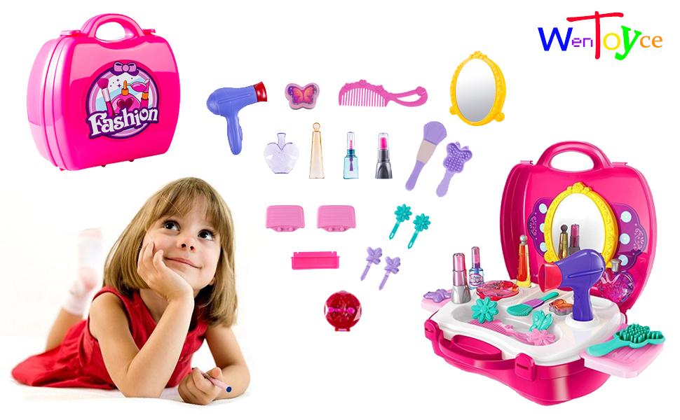 Girls Pretend Makeup Kit