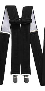 tambi/én para se/ñora Tirantes para hombre de alta calidad de Axy anchos de 2,5 cm con 4 clips fuertes en forma de X