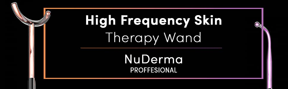 Handheld High Frequency Skin Therapy Machine with 6 Neon & Argon Wands