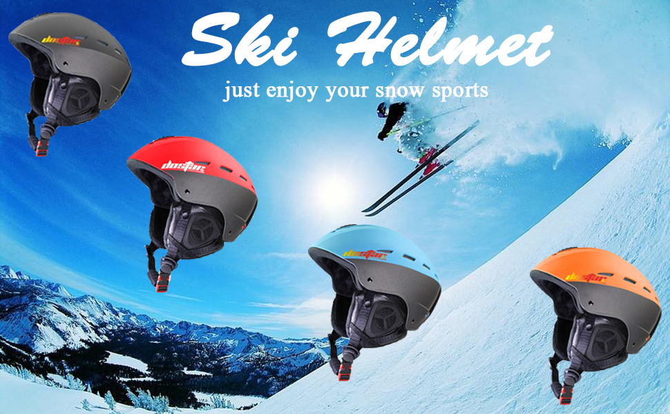 Winter Outdoor Sports Snowmobile Snow Skate Helmet with Warm Fleece Liner for Adult Men Women Youth Airflow Control Adjustable Fit for Goggles Dostar Ski Snowboard Helmet with ASTM Certified Safety