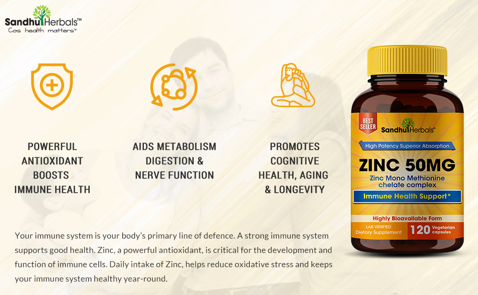 zinc vitamins for adults boosts immune system