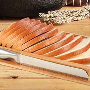 high quality stainless steel bread knife included