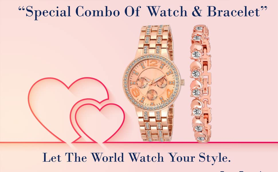 Special Combo Of Watch & Bracelet