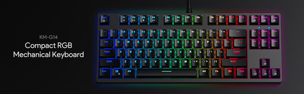 AUKEY KM-G14 Compact RGB Mechanical Gaming Keyboard