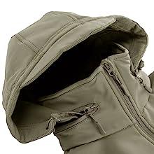 men soft shell fleece jacket