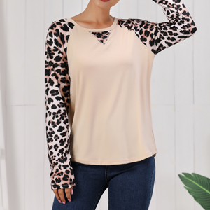 Romanstii Women Loose Tunic Tops for Leggings Comfortable Color Block T Shirts