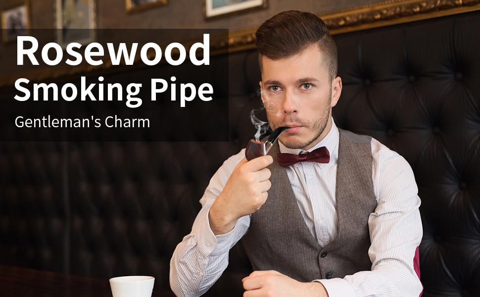 Rosewood smoking pipe