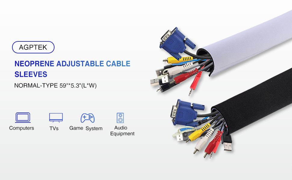 Neoprene Adjustable Cable Sleeves