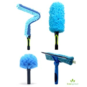 eversprout duster squeegee 4-pack cleaning kit