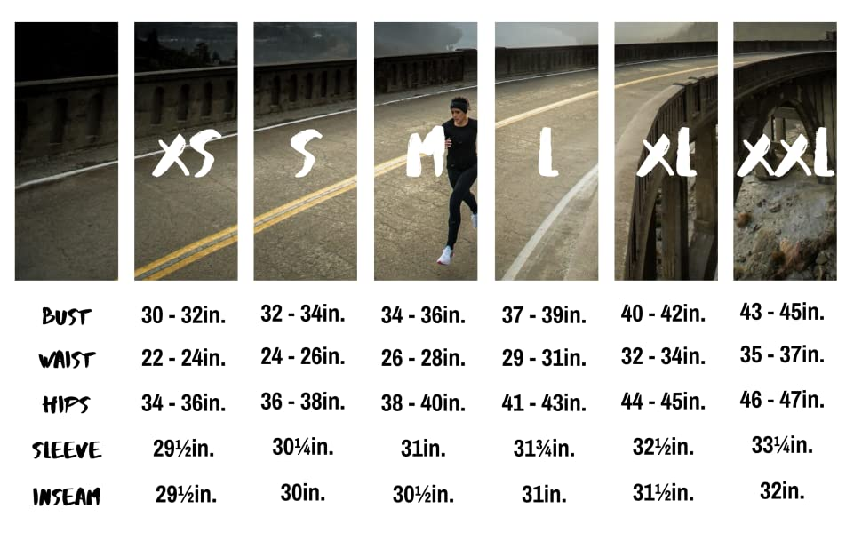 korsa women's size chart road runner sports