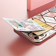 i-Blason Stylish Cosmo Wallet Case for iPhone 11 Pro Max 6.5 2019