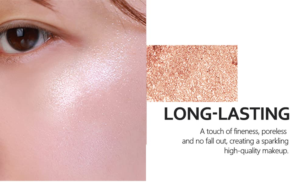 HIGH PIGMENTED SOFT SMOOTH HIGHLIGHTER MAKEUP NATURAL LOOKING SUN KISSED GLITTER SHIMMER FACE GLOW