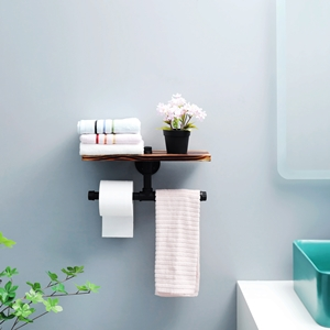 restroom tissue dispenser with shelf