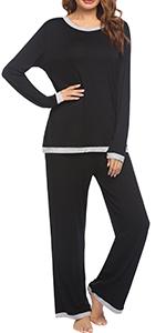 Ekouaer Women's Long Sleeve Sleepwear Two Piece Pajamas Set