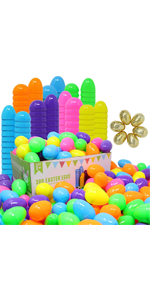 """300 Pieces 2 3/8"""" Easter Eggs"""